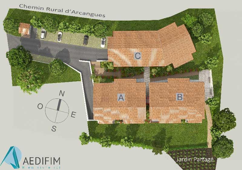 Plan de Gizaldia, programme immobilier neuf à Arbonne